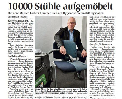 10000 Stühle Polsterreinigung biologisch